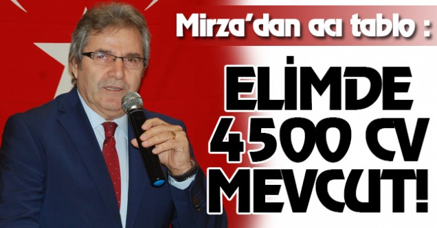 MİRZA'DAN ACI TABLO